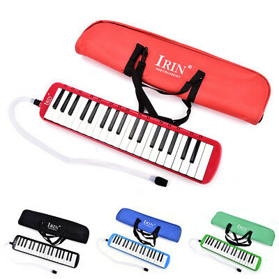 4Colors Portable 37 Piano Key Melodica Student Harmonica Music Instrument w/BagK