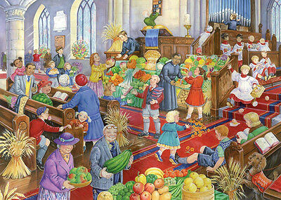 The House Of Puzzles - 500 PIECE JIGSAW PUZZLE - Harvest Festival Unusual Pieces