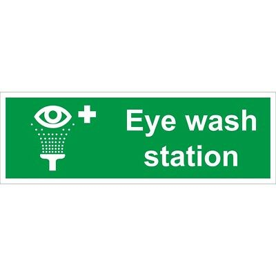 Eye Wash Station Self Adhesive Vinyl 300mm x 100mm - Castle Sign Promotions