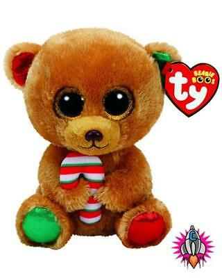Ty Beanie Babies Boos Bella Bear Christmas Exclusive 2017 Plush Soft Toy New