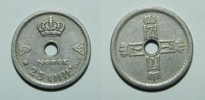 NORWAY : 25 ORE 1929 - Scarcer Date