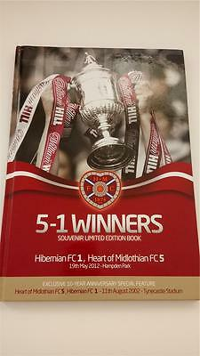 2012 Scottish Cup Final Limited Book Signed Hearts FC Heart of Midlothian FC