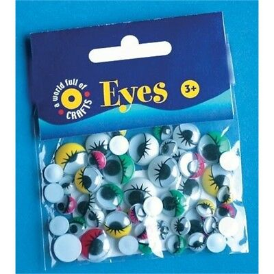 7, 10 & 12mm 30 Piece Coloured Eyes With Lashes Set - Playbox Play 30 Art