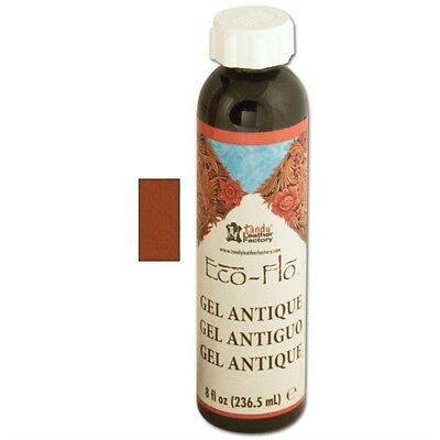 8oz Saddle Tan Eco Leather Antique Gel - Flo Sheen Polish Leathercraft 260705