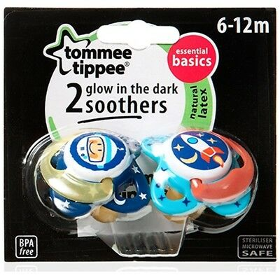 6-12 Months Novelty Orthodontic Soother - Tommee Tippee Glow Dark Essentials