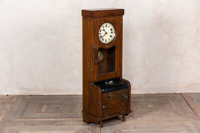 Vintage Timepiece Wooden Time Recorder Clocking In Clock