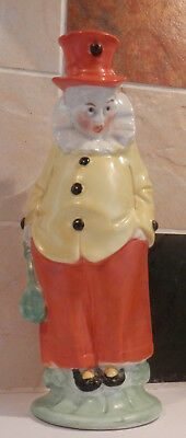 Vintage - Continental Novelty Pottery Standing Clown Candlestick