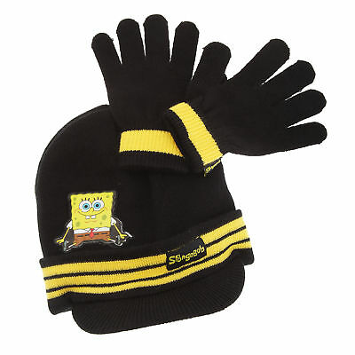 Childrens/Kids Boys Spongebob Squarepants Winter Hat And Gloves Set