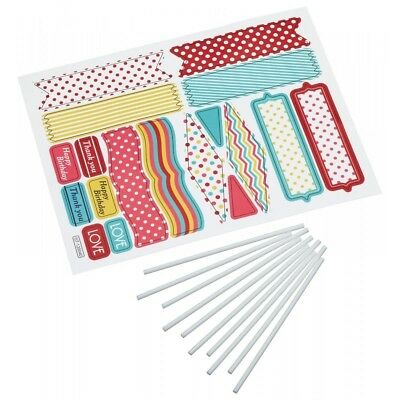 Sweetly Does It 20 Piece Assorted Patterned Decorative Cake Toppers Set - Asstd