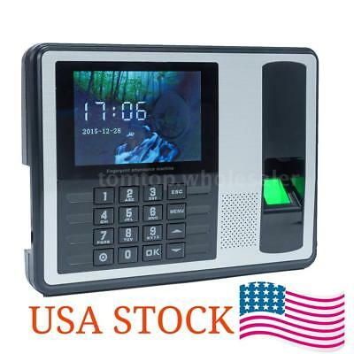 Biometric Fingerprint Password Time Attendance Clock Machine Check-in Recorder
