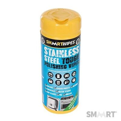 40pk Stainless Steel Polishing Wipes - Tough Smaart Cleaning 320591