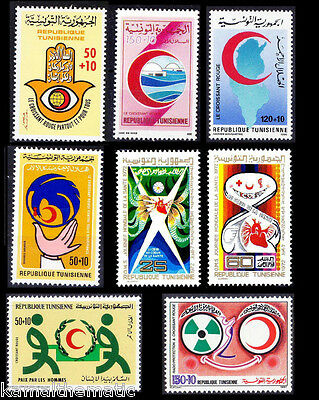Tunisia MNH 7 Different sets on Red Cross, Lot - (5)