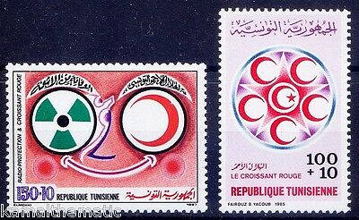 Tunisia MNH 1985 + 1987 Red Cross Stamps