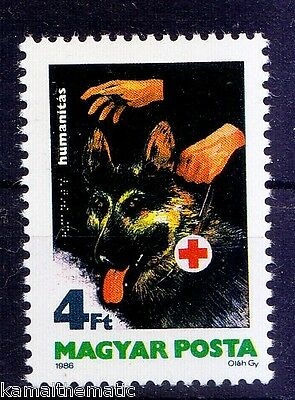 Hungary MNH, Red Cross, Braille, Guide Dog