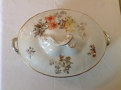 Victorian Doulton Burslem Large Lidded Serving Dish In Good Used Condition A8367