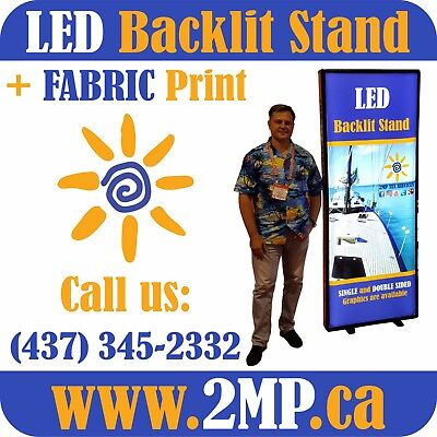 Trade Show Portable Light Box LED Backlit Stand Display + Double-Sided Graphics
