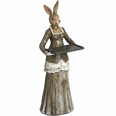 Hill Interiors Standing Rabbit Waitress With Tray