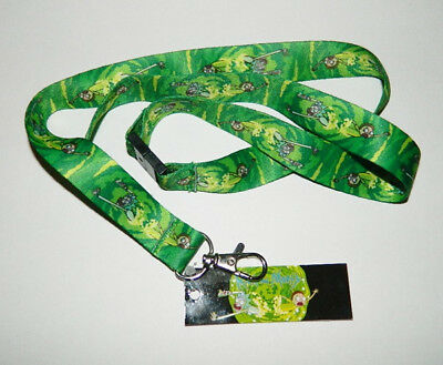 Rick and Morty Animated TV Series Portal Run Lanyard NEW UNUSED