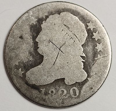 1820 Bust Dime.  Circulated.  112449