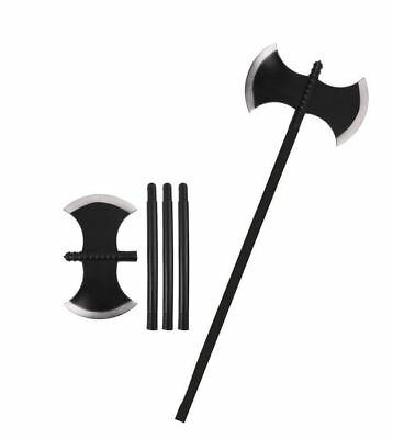 Plastic Axe Viking Warrior Medieval Executioner Fancy Dress Halloween Prop 110CM
