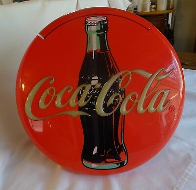 """AUTHENTIC COCA-COLA 12"""" ROUND TELEPHONE Desktop Stand or Wall Hang"""