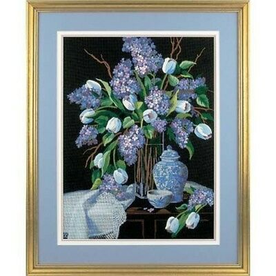 Dimensions Crewel Embroidery -lilacs And Lace - Lilacs Kit D01529