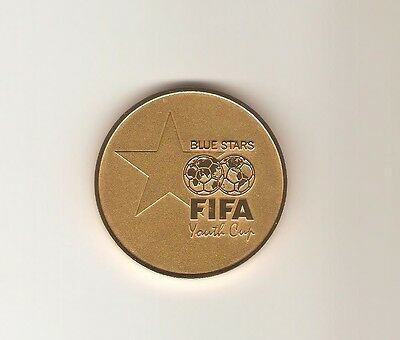 Medaille Blue Stars FIFA Youth Cup Zürich 7/ 8 May 2002 mit Box