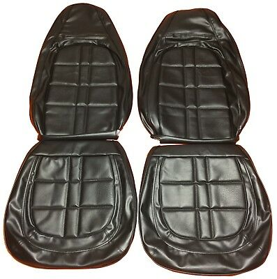 1971 Duster Demon Seat Covers Front Buckets Black Upholstery Dodge Plymouth 340