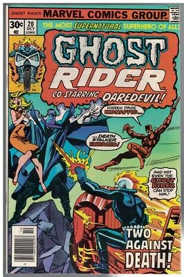 GHOST RIDER 20  VERY GOOD-FINE Oct. 1976 BYRNE: Daredev