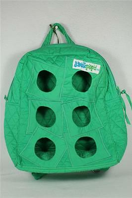 Backpack By Jackpopz-Holds 6 Webkinz+ Plus! Bright Green  NWT!