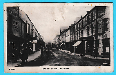 Photographic card Dated 1911. Canon Street, Aberdare, Glamorganshire.