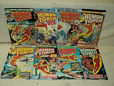 Human Torch 1-8 COMPLETE SET Nice! Strange Tales Reprints Marvel Comics (s 9433)