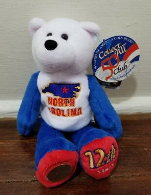North Carolina the 12th State - Limited Treasures Quarter Coin Bear