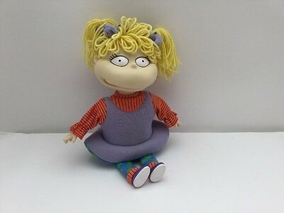 Rugrats Angelica Doll Spinning Bunches Pigtails 1997 Vgc Nickelodean Viacom 14""