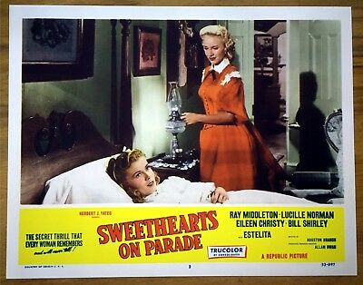 Original Lobby Card Sweethearts On Parade 1953 Ray Middleton Lucille Norman #3