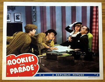 Original Lobby Card Rookies On Parade 1941 Ruth Terry Republic Pictures