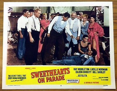 Original Lobby Card Sweethearts On Parade 1953  Ray Middleton Lucille Norman #8