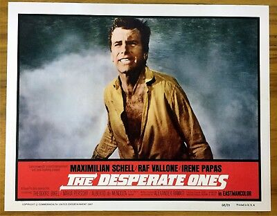 Original Lobby Card The Desperate Ones 1967 Maximilian Schell
