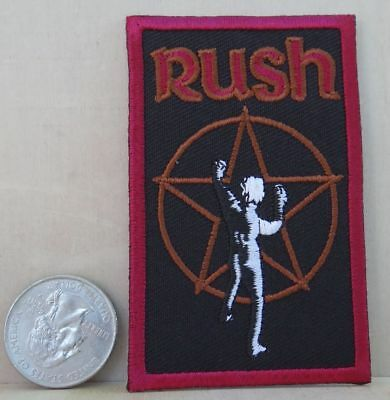 "RUSH "" STARMAN "" IRON-ON / SEW-ON EMBROIDERED PATCH 2""x 3 1/4"""