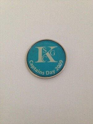 KSGC Captains Day 2009 Golf Ball Marker