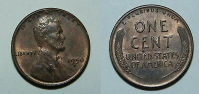 United States : Lincoln Cent 1950 D - Nice Lustrous Coin