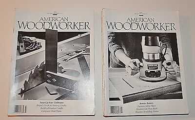 """Lot of 10 """"Early"""" American Woodworker Magazines Just $1.00 each  Group f"""