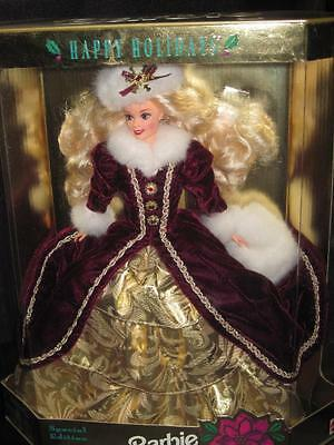1996 HAPPY HOLIDAYS Barbie Doll Special Edition Blonde Hair #15646 NRFB