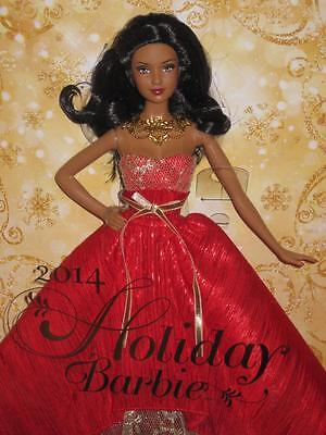 2014 HOLIDAY Barbie Collector AA #BDH14 NRFB African American Holiday Barbie