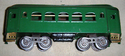 Antique Standard gauge passenger car. green repaint.