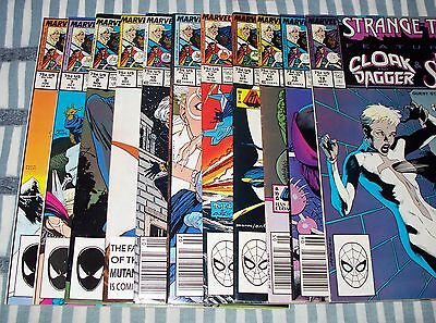 Lot of 11 Strange Tales comics from #5 - 18 with Doctor Strange, Cloak & Dagger