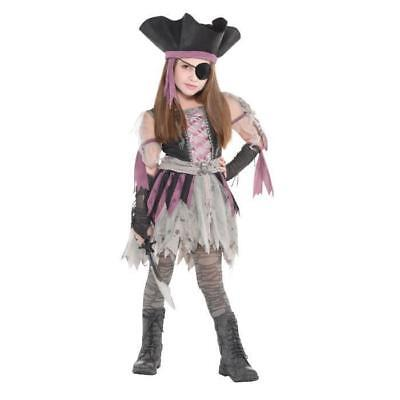 AMSCAN Haunted Pirate - Costume Fille - Robe. chapeau. mitaines et collants