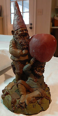 1985 Tom Clark Gnome Cairn Studio Willie And Son Apple Toting Gnomes 37 Retired