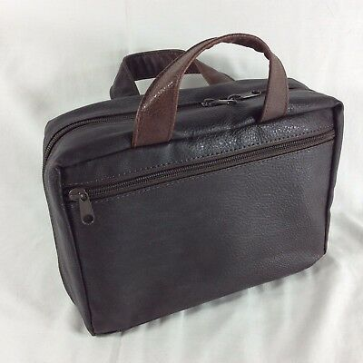 Brown LARGE Faux Leather LDS Scriptures Tote Carrying Case Mormon Cover Bag