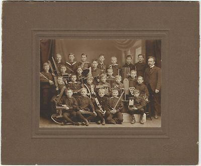 Circa 1900 Photoigraph of Danish Woodworking Class with Tools & Projects
